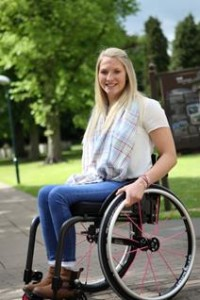 Samantha Kinghorn, one of the UK's most successful wheelchair racers, has become the first person in the UK to be supplied with a new 'every day' carbon fibre wheelchair from mobility specialists Ottobock
