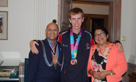 Special Olympics World Champion from Kingston celebrated