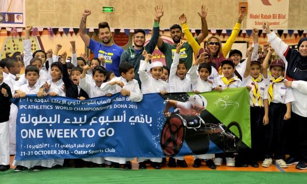 Marking One Week To Go To Doha 2015 IPC Athletics World Championships