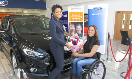Evans Halshaw Ford Bedford Supports Paralympian