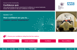 QUIZ: Health and social care workers are asked to rate their confidence levels at the start of each module.