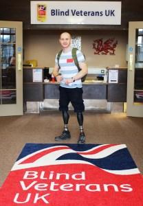Shaun Stocker at the Blind Veterans UK Llandudno Centre