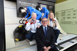 New display at Riverside museum displays para-sport track cycling Glasgow Commonwealth 2014 achievements