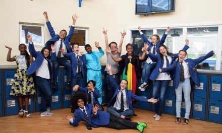 London school celebrates diversity with TV star and 'Jean for Genes' Day Ambassador