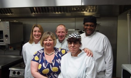 Action for blind people Concept Birmingham team leader retires
