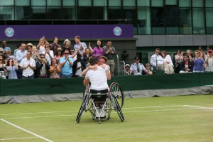 Gordon Reid Alfie Hewett celebration