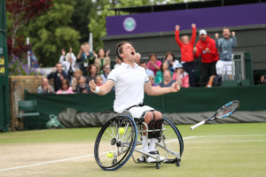 Gordon Reid. Wimbledon celebration (2)