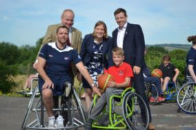 Paralympians join Sports Minister at Eccles School - BWB