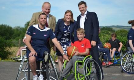 Wheelchair basketball comes to Eccles School