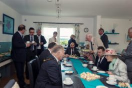 HRH in discussion with Cllr Ashcroft, Chairman of EHDC and Tom Yendell