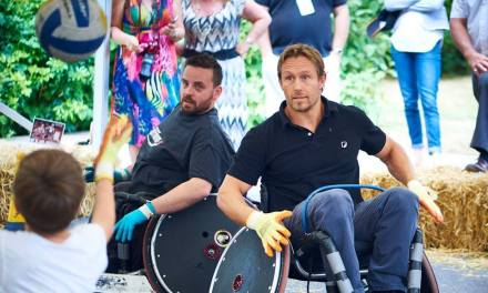 Jonny Wilkinson plays wheelchair rugby with The Dorset Destroyers