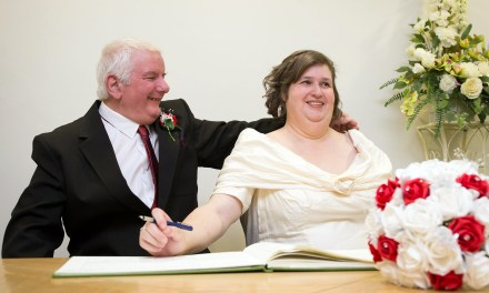 Wedding day joy for couple whose lives were changed by accidents