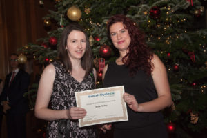 katie-netley-receiving-the-british-dyslexia-association-top-achiever-award