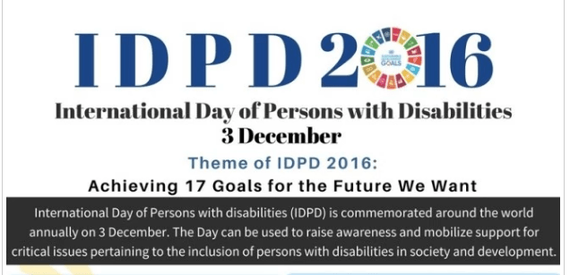 International Day of Persons with Disabilities 2016