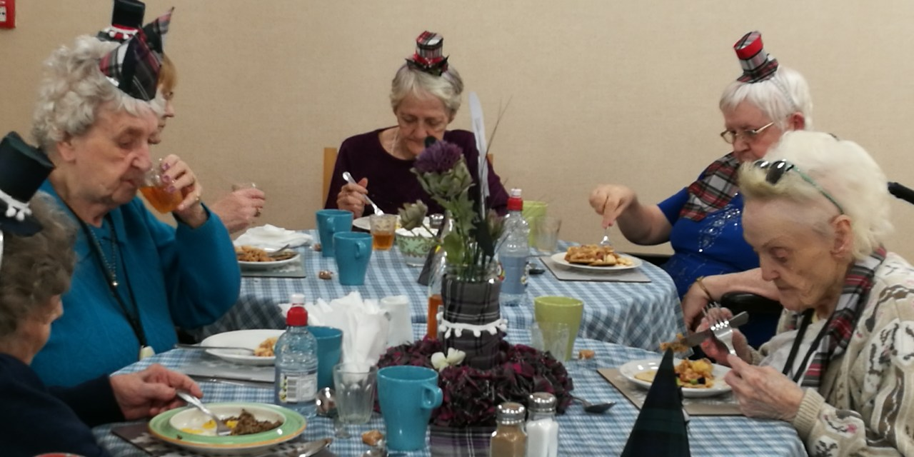 Care Home Hosts Traditional Burns Supper