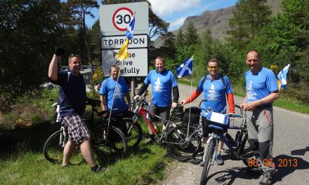 Pedalling Posse Cycle 220 Miles for Charity