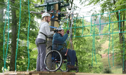 UK's first wheelchair accessible high ropes course opens in Lake District
