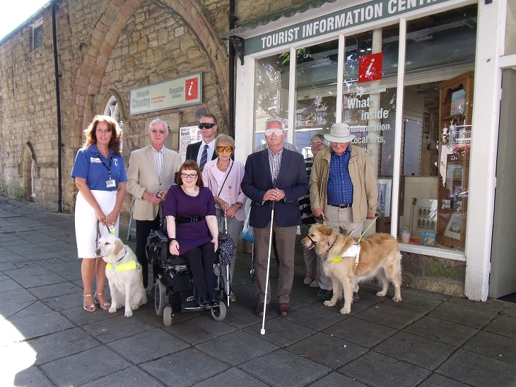 Northumberland Councillor goes on a 'blindfold' walk highlighting effects of street clutter