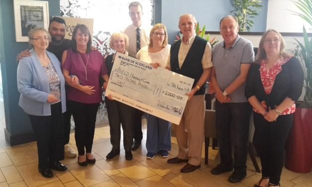 £2,000 Donation Boosts Bield in Kirkintilloch
