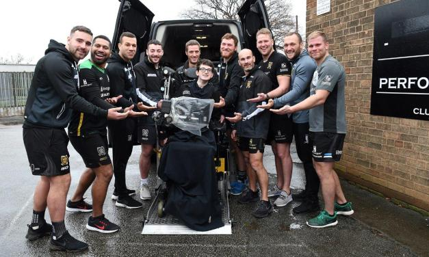 Custom designed wheelchair accessible vehicle for Hull FC fan