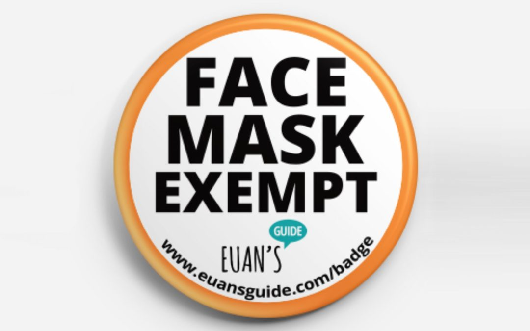 Euan's Guide offer free 'Face Mask Exempt' badges