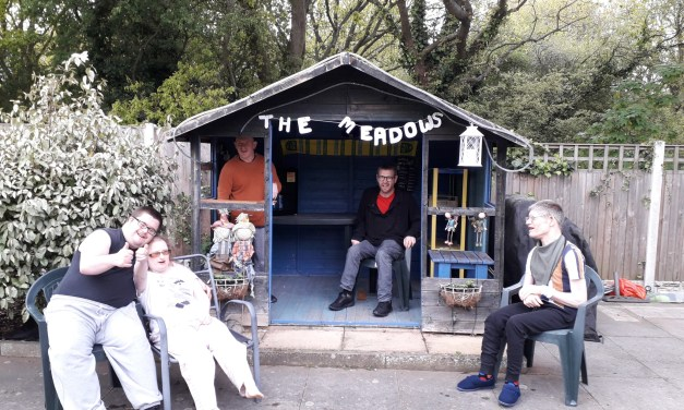Residents create pub in care home garden