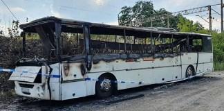 Nocny pożar w Zielonej Górze. Autobus spłonął doszczętnie
