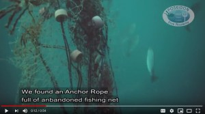 Anchor rope cleanup