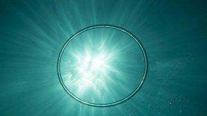 Bubblering with sunburst