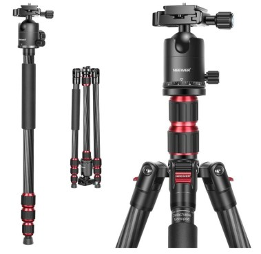 Neewer 79 Inches Carbon Fiber Camera Tripod