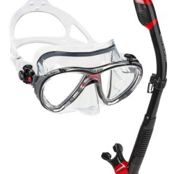 Cressi Big Eyes Evolution Mask and Snorkel Set with Premium Dry Top Snorkel