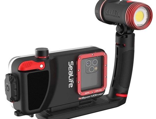 Waterproof Scuba Diving SeaLife Compatible with iPhone Case 2500 Lumen Light Underwater Photography