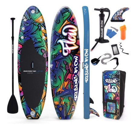 SereneLife Inflatable Stand Up Paddle Board grafitti