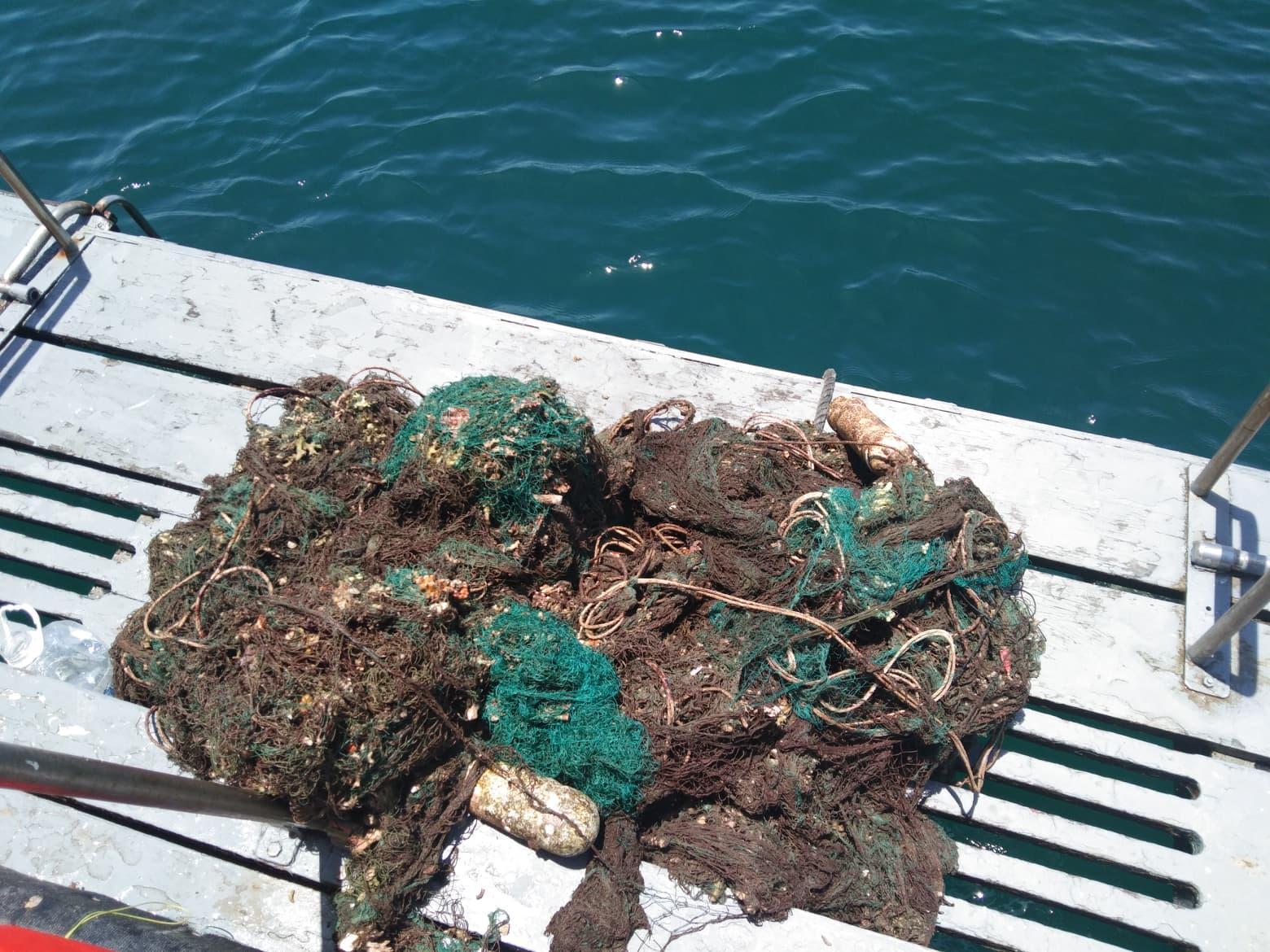 Abandoned fishing Net Koh Haa 5