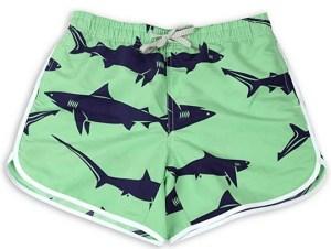 Women Beach shorts shark