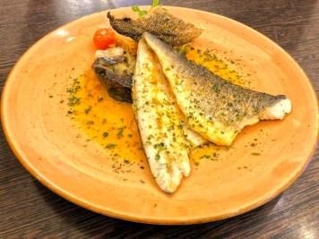 Doradenfilet – gegrilltes Doradenfilet/ mediterranes Gemüse aus dem Ofen