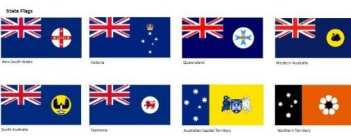 australian state flags