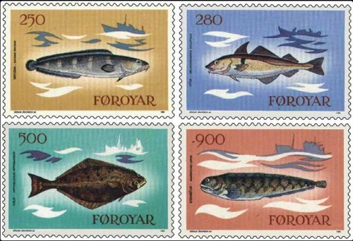 Faroe Islands fish stamp