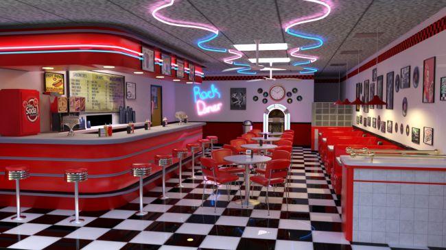 50s Diner 3D Models For Poser And Daz Studio