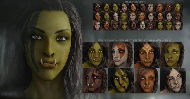 Fantasy Races Nargol The Half Orc 3D Models For Poser