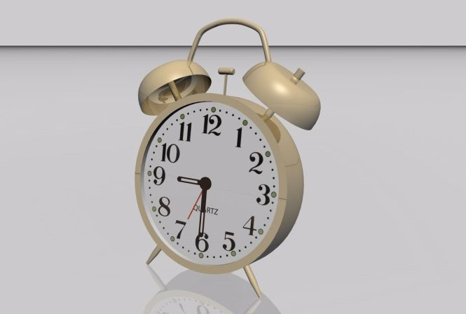Old Style Alarm Clock Model Fbx Format