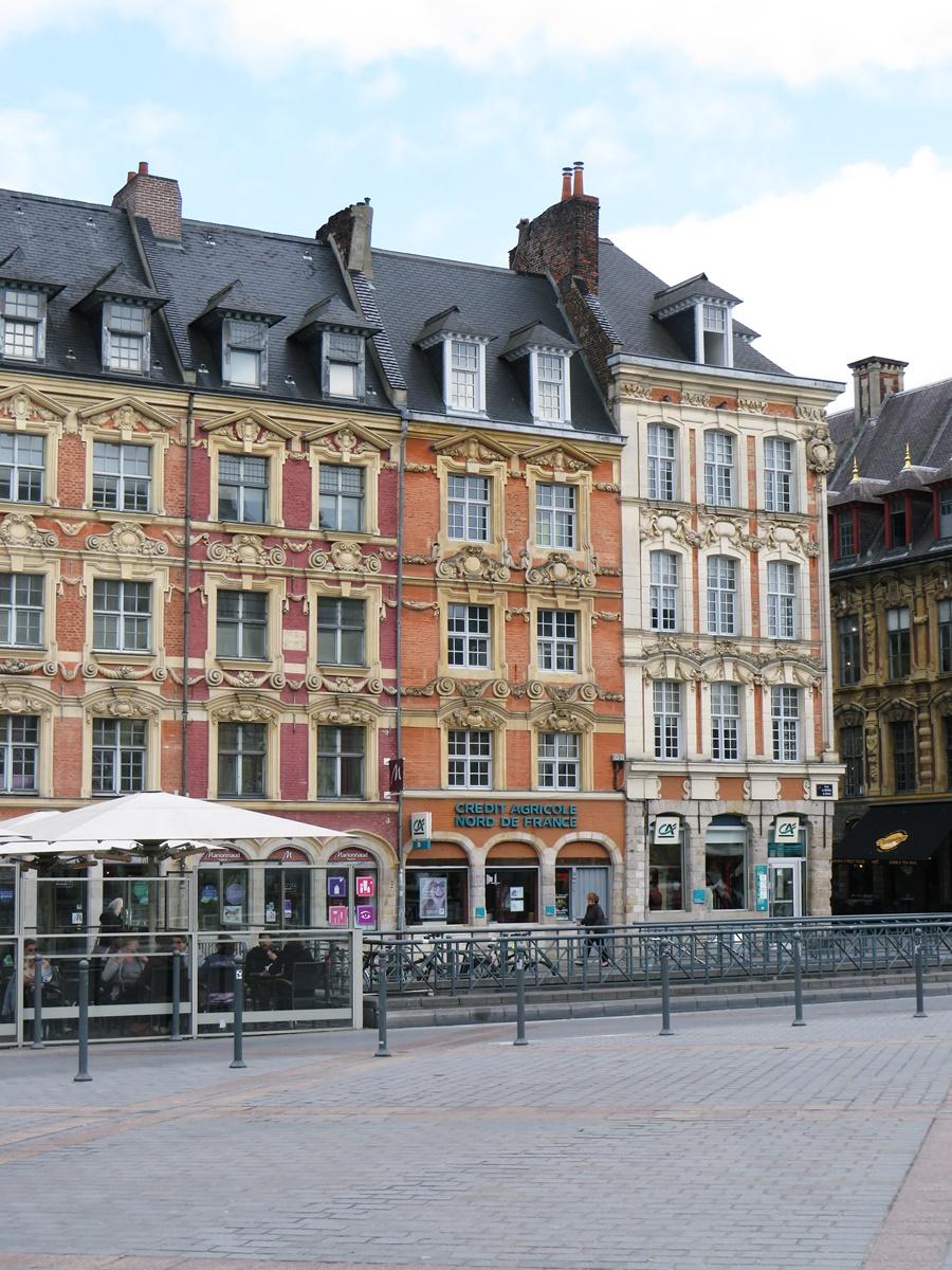 façades place du général-de-gaulle lille