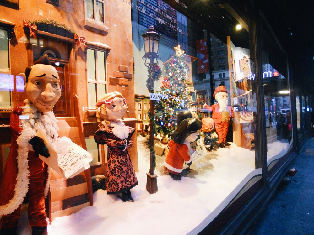 vitrines magasins new york noel