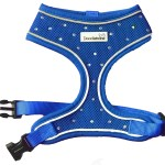 Crystal Air Mesh Dog Harness In Blue
