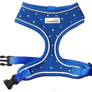 Swarovski Crystal Airmesh Dog Harness in Blue