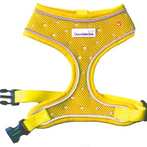 Swarovski Crystal Airmesh Dog Harness in Yellow