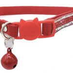 Crystal Microsuede Cat Collar In Red