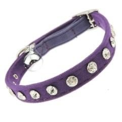 Diamante-Crystal-Cat-Collar-Purple