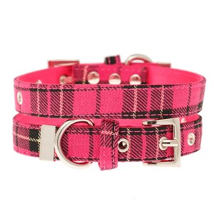 Hot-Pink-Tartan-Dog-Collar