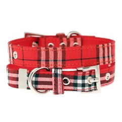 Red-Tartan-Dog-Collar